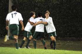 by: Jeff Spiegel The Rangers celebrate after one of their five goals against Sweet Home last Thursday