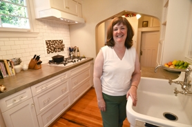 by: vern uyetake Owner Sheila Perrin stands in the kitchen of the Trueblood house – a room whose new appliances and cabinetry have been modeled to match its surrounding original elements.