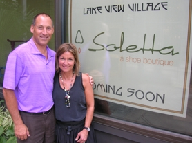 by: CLIFF NEWELL Steve and Carrie Elliott think the time is right for Soletta Shoes, their new shoe store in downtown Lake Oswego. Their inventory will come from around the world.