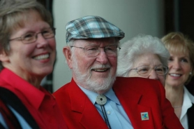 by: JOHN KLICKER From left, Dr. Susan Bagby of OHSU and Bob and Charlee Moore, founders of Bob's Red Mill in Milwaukie, at the announcement Friday morning of the couple's $25-million pledge to establish the Bob and Charlee Moore Institute for Nutrition and Wellness at OHSU.