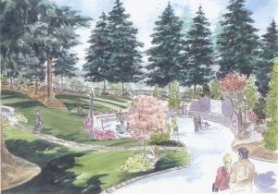 by: PARENTS OF MURDERED CHILDREN Artist rendering of memorial to be built in Mountain View Cemetery on Oregon City.