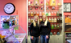 by: Jim Clark Janelle Mikula, left, and Debbie Eggers are the owners of iCandy, a new candy store in downtown Gresham.