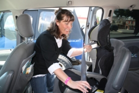 by: Lisa K. Anderson Nannette Wilson of Sandy Fire District became a car seat safety technician in 2005. During Child Passenger Safety Week in September, she offers free car seat safety checks at Sandy Fire District.