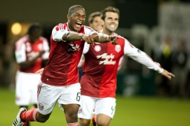 by: CHRISTOPHER ONSTOTT Darlington Nagbe (left), the No. 2 overall pick in the MLS Super Draft of 2011, celebrates his goal in last week's 3-0 win over New England.