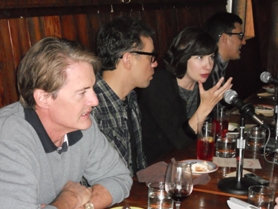 "by: KRISTEN FORBES ""Portlandia"" stars (from left) Kyle MacLachlan, Fred Armisen and Carrie Brownstein chat with journalists about their show."