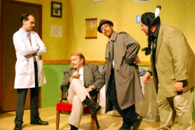 by: Submitted photo Beaverton Civic Theatre's new show is a playful takeoff of classic private-eye movies.