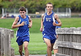 by: Miles Vance TOP TWO — Valley Catholic seniors Connor Richard (left) and Andy Holstrom are back to lead VC in 2011.