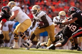 by: CHRISTOPHER ONSTOTT UCLA's Derrick Coleman slices through the Oregon State defense.
