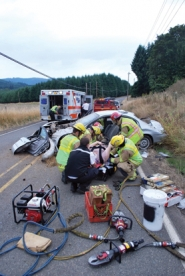 by: Photo courtesy of Forest Grove Fire & Rescue NW Gales Creek Road was closed to traffic in both direction just east of the Gales Creek community early Monday afternoon as crews from Forest Grove Fire & Rescue used heavy equipment to extract the driver of a car involved in a single-vehicle crash. Firefighters removed the doors of the vehicle so they could safely remove a woman without making her condition worse. She was transported by Metro West Ambulance to the Trauma Center at Legacy Emmanuel Hospital in Portland with possibly serious injuries.
