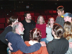 by: Contributed photo by JAMES BASS Jim Wilhite, far left, gathers in a circle with cast and crew before every rehearsal and performance.