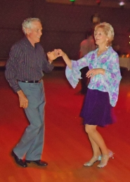 by: Submitted photo DANCING THE NIGHT AWAY — Senior couples and singles are invited to come to the second Friday lesson and dance offered at the Ballroom Dance Company.
