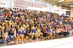 by: David F. Ashton Hundreds of newly-minted Franklin High freshmen await the start of their first school assembly.