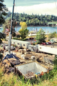by: David F. Ashton This shaft is the facility that will intercept combined sewerage that, for decades has poured into the Willamette River from Sellwood's outfall pipes during rainstorms.