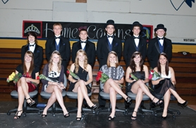 by: Chase Allgood The Banks High School Homecoming Court was announced during an assembly Monday morning. From left to right are freshman princess Emily Vandehey and Riley Wellington; sophomore princess Amy Hilger and Aaron Streblow; junior princess Courtney Engeseth and Dakota Kemper; senior princess Melissa Masters and Garrett Bossert; senior princess Natalie Larsen and Mitch Evers; and senior princess Marla Gooding and Austin Soper.
