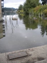 "by: SUBMITTED PHOTO Given the ""private lake"" plaque on city property on Oswego Lake, writer Todd Prager asks citizens:  ""What's your vision for the future of Oswego Lake?"""