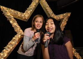 by: Vern Uyetake Laurel Sleeper (left) and Kylee Kamikawa, both seventh graders at Athey Creek Middle School, will perform at Athey Idol on Oct. 13.