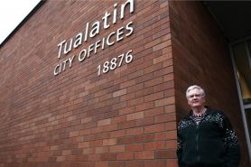 "by: Jaime Valdez ""Virtually all of the streets and buildings in Tualatin were built during his time here,"" said  Tualatin Mayor Lou Ogden of the now-retired Mike McKillip, city engineer since 1979."