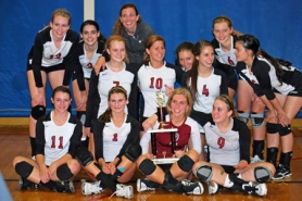 by: submitted photo TOURNEY TROPHY — The Sherwood volleyball team placed second at the State Preview Tournament.