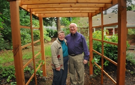 by: VERN UYETAKE Although they have lived in their home since the mid-1980s, Helen and Paul Lyons said they're enjoying their backyard on a different level now that it has been certified through the Backyard Habitat Certification Program made possible by Friends of Tryon Creek.