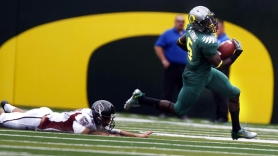 by: JAIME VALDEZ De'Anthony Thomas runs against Missouri State. The Oregon freshman, who has played mostly slotback, might be more important than ever for the Ducks, given last week's elbow injury to star running back LaMichael James.