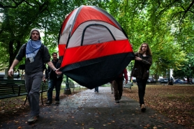 by: Natalie St. John  City officials have allowed the Occupy Portland demonstrators to erect a tent city near City Hall,  