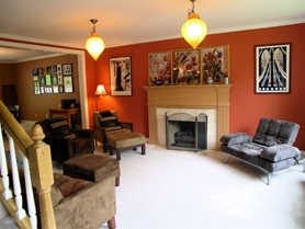 by: Submitted photo Mary McMurray of Art First Colors, who designed this living room, compares color to music.