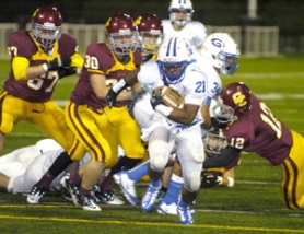 by: David Ball Gresham's Devauntae Hoffman is the league's leading rusher with 943 yards.