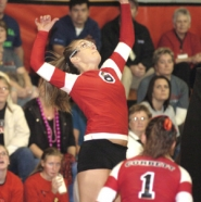 by: David Ball Corbett's Sophia Raglione goes up for a kill attempt during the Cardinals sweep Tuesday.