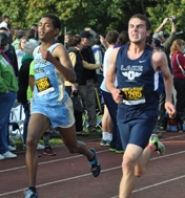 by: SUBMITTED PHOTO Lakeridge's Mubark Mebrat, left, and Lake Oswego's Nathan Normo each set career best times and finished neck-and-neck at last week's Concordia Classic.