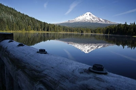 by: Shada Tice An October view of Mount Hood from Trillium Lake gives little away about the heavy snowpack predicted for this winter because of what meterologists are saying could be another La Nina winter in the Pacific Northwest.
