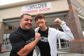 by: VERN UYETAKE Eddie, left, and Nikki Naseef — West Linn transplants via Las Vegas — will open an Anytime Fitness club in December just down the street from their home in the Cascade Summit Shopping Center on Salamo Road.