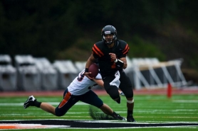 by: COURTESY OF LEWIS & CLARK COLLEGE Quarterback Keith Welch leads the Northwest Conference in touchdowns rushing and ranks second in both touchdowns passing and total yards — and the Lewis & Clark Pioneers are off to an almost unprecedented 6-0 start.