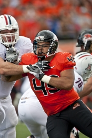 by: Courtesy of Erik Dresser Junior defensive tackle Andrew Seumalo starts for the Beavers and is one of the most important parts to Oregon State's front four.