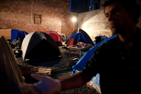 by: CHRISTOPHER ONSTOTT Portland officials say the Right 2 Dream Too homeless camp violates Portland's anti-camping ordinances, but have allowed the Occupy Portland campsite on two city parks to remain in place.