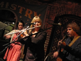 by: Submitted photo Moonlight Mile members (from left) Erica Liebert, Dana Fontaine and Robert Richter perform at the White Eagle Tavern in Portland.