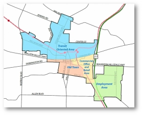 by: Submitted map Central Beaverton Urban Renewal Area