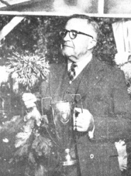 by: from the OUTLOOK ARCHIVES Gresham Mayor H.H. Hughes won a prize for his 'Atomic' Chrysanthemum in 1951