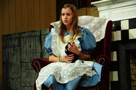 "by: VERN UYETAKE  Junior Jayne Ruppert stars as Alice in Westside Christian's production of ""Alice in Wonderland."""