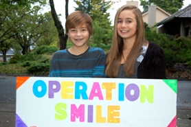 by: SUBMITTED PHOTO Dylan Nelson and Alyson Pavlicek are raising money for Operation Smile, an organization that provides surgeries to repair cleft palates. They are encouraging the public to donate funds to the cause.