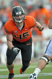 "by: ERIK DRESSER Dylan Winn, a true freshman at Oregon State, has showed the kind of ""motor"" that football coaches like to see in defensive players."