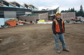 by: Lisa K. Anderson Jordan Frost, 22, is working on the new high school and completing his electrician training.
