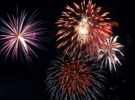 by: File photo Fireworks might not be seen over Blue Lake Park in 2012.