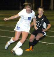 by: David Ball Barlow's Katie Austinson turns upfield during the Bruins 5-0 playoff win over Sprague on Saturday night.