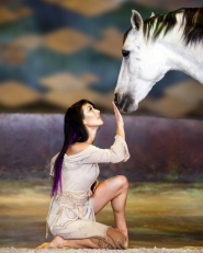 "by: courtesy of cavalia Cavalia, seen by three million people worldwide, celebrates the connection between humans and horses. Performances will be held Nov. 16 - Dec. 4 at the ""White Big Top"" near Centennial Mills in the Pearl District."