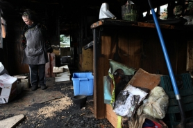 by: Jaime Valdez A crew 'came out of the woodwork' to help Debi Dirks of Tualatin after a devastating fire ravaged her mobile home last month.