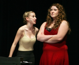 by: Jim Clark Chelsea Michel, left, plays Gypsy Rose Lee and Emily Brant plays her mother Rose, from the musical 'Gypsy,' part of Reynolds High School's 'Broadway Revue,' taking place this weekend.