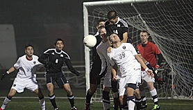 by: Miles Vance SEMI-TOUGH – Westview's Danny Segovia makes a header while defended by McMinnville's Francisco Leon on Tuesday.