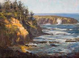 "by: SUBMITTED PHOTO Pictured above is James McGrew's oil on linen titled ""Boiler Bay."" Recent works of McGrew,  Brenda Boylan, Eric Bowman and Thomas Jefferson Kitt will be on display at a collector's event on Dec. 1 from 6 to 9 p.m. See listing for complete information."