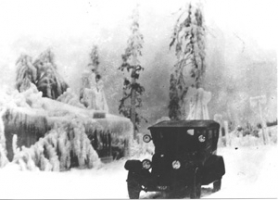 by: Photo courtesy of the Troutdale Historical Society East County was hit by a horrible ice storm in 1921.