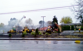 by: Courtesy Prime Time restaurant in Forest Grove burns in Wednesday morning fire.